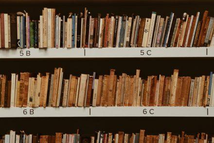 books file on shelf